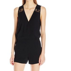 Parker Black Lace romper size Small. New with tags